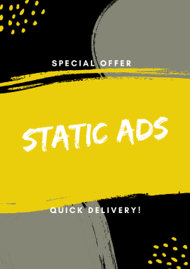 i will do static ads for your social media profiles