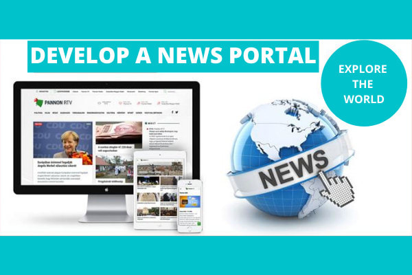 I will design and develop news portal