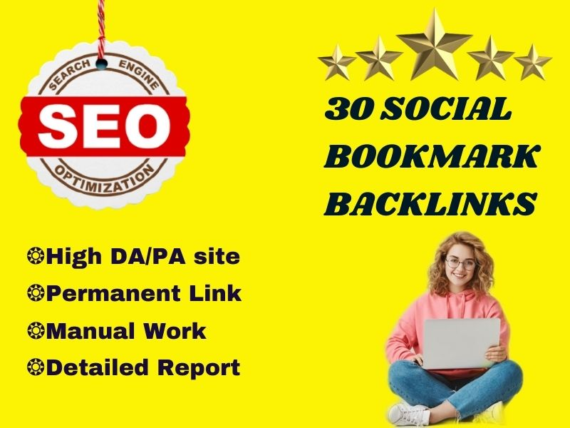 Manually Social Bookmarking Provider on High DA/PA site