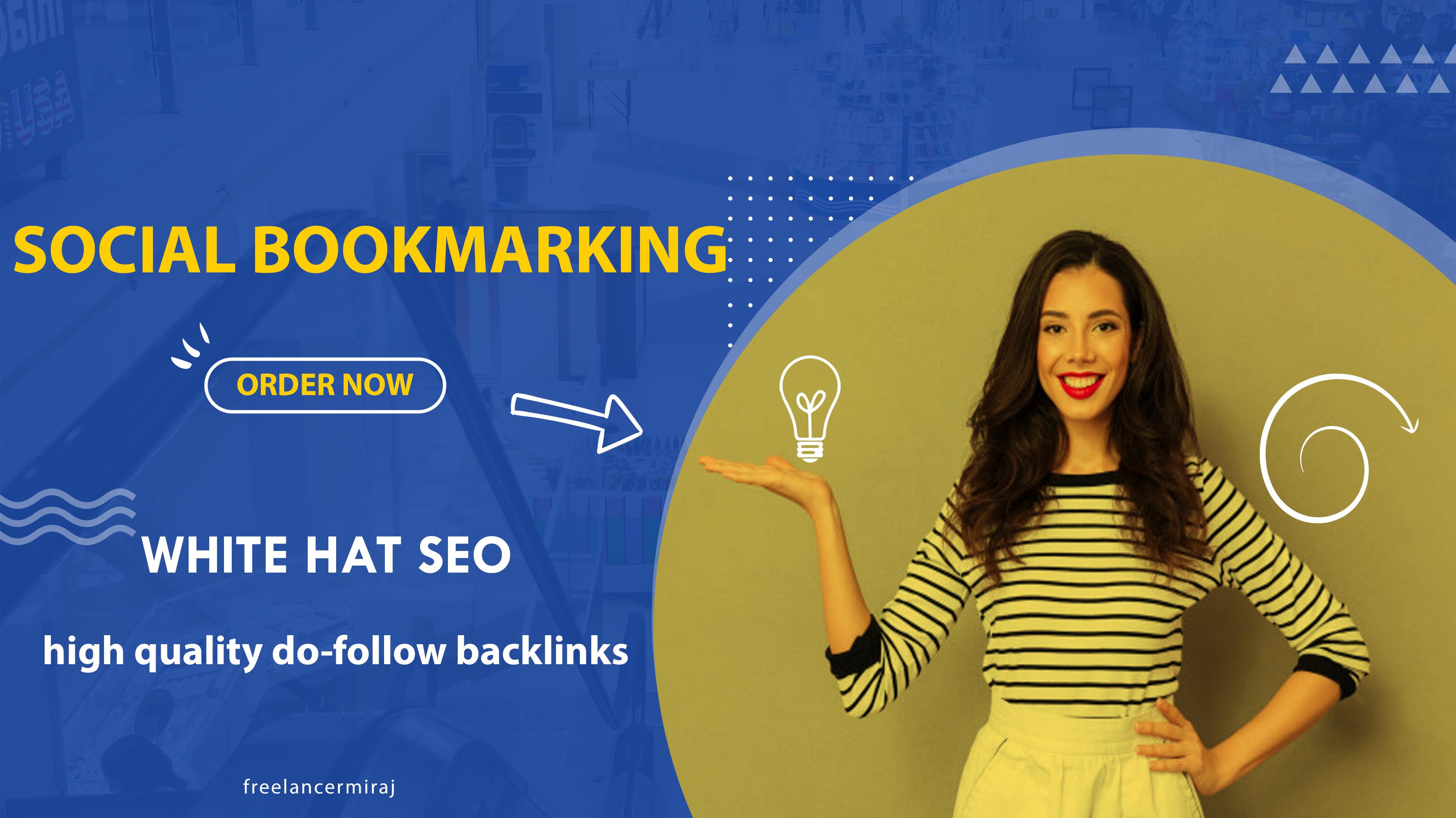 I will do High Quality Social Bookmarking Do-follow Backlinks for your Website.