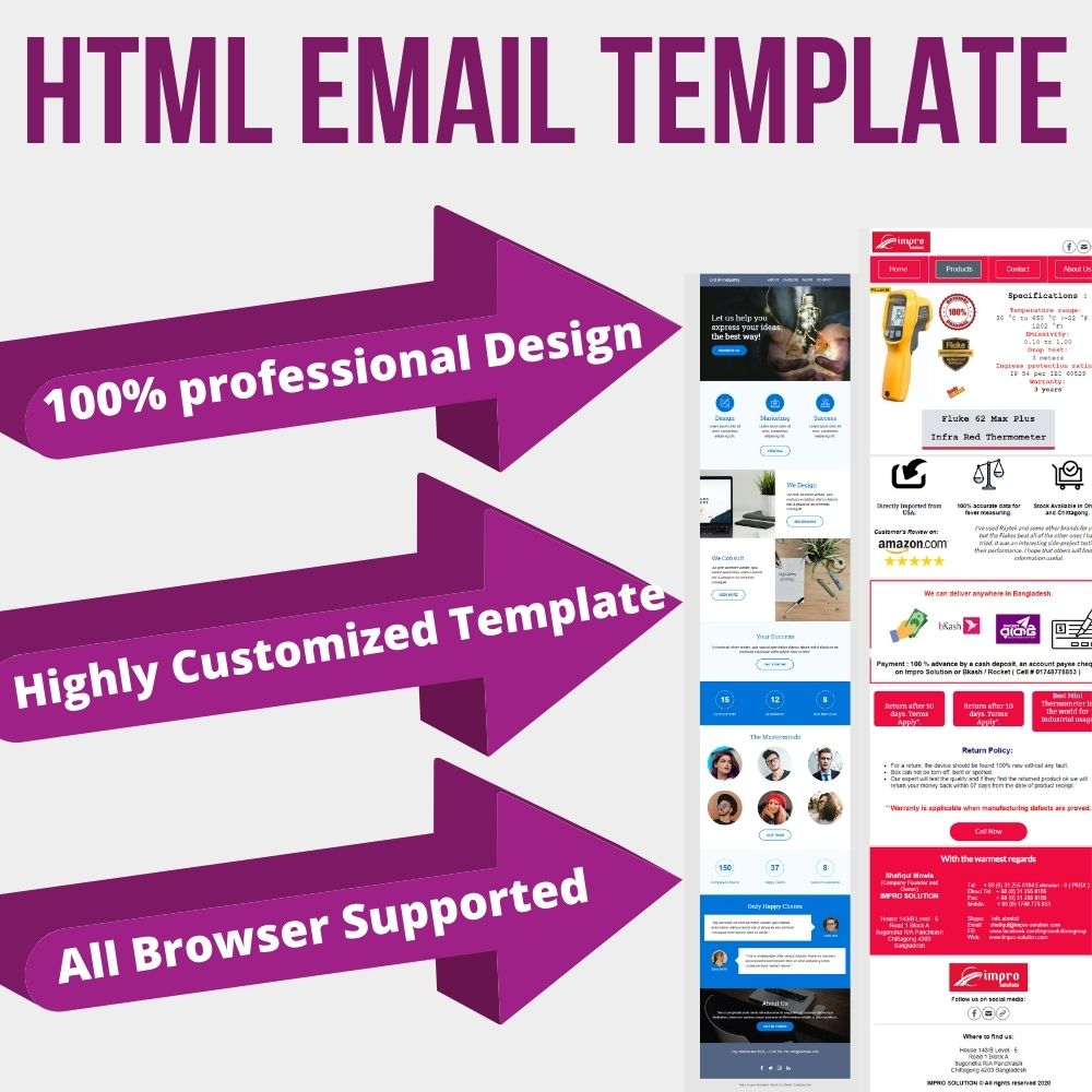 I will design a professional HTML Email Template