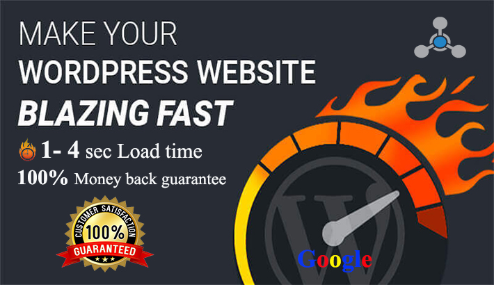 I will WordPress speed optimization and google page speed increasing.