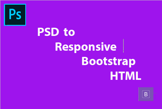 convert psd to responsive html latest bootstrap