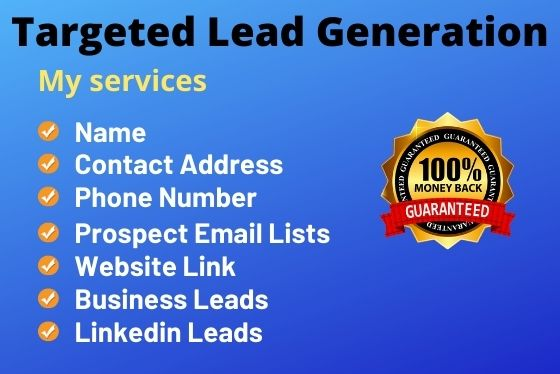 I will do B2B Lead Generation for targeted industry
