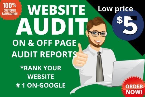 i will do website seo audit report