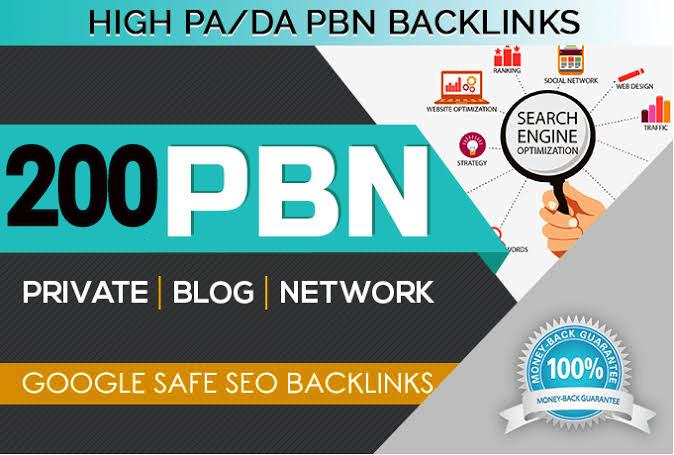 I will manually create 200 pbn backlinks with high domain authority