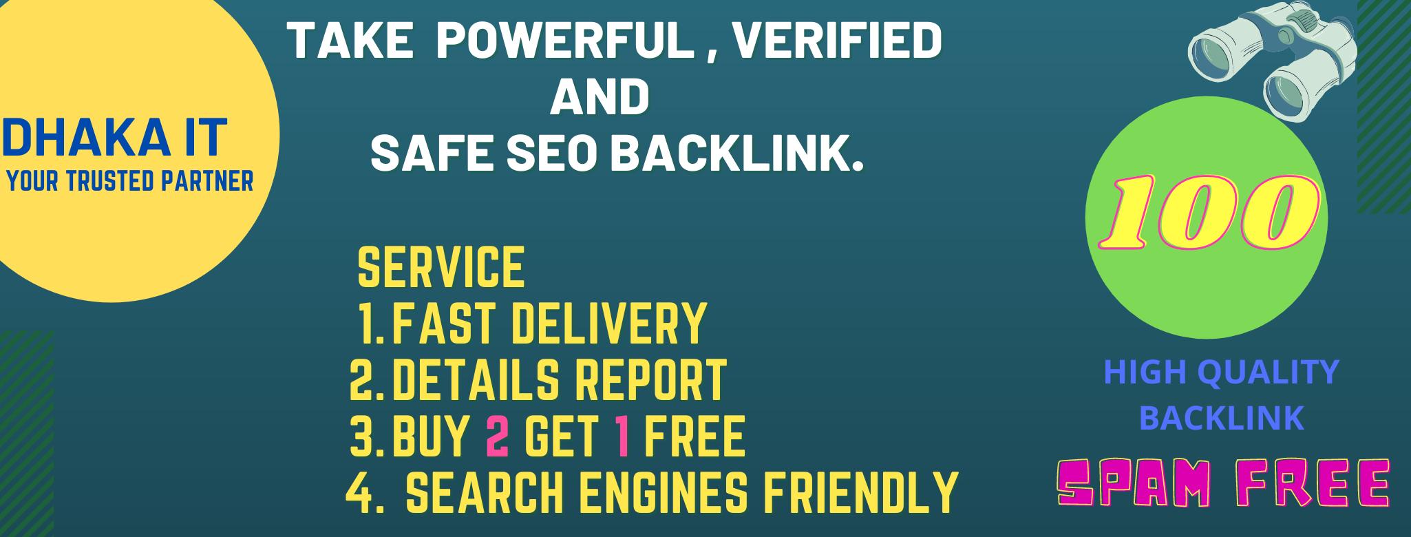 GET 60 + Safe homepage BACKLINKS and get 30+ free.