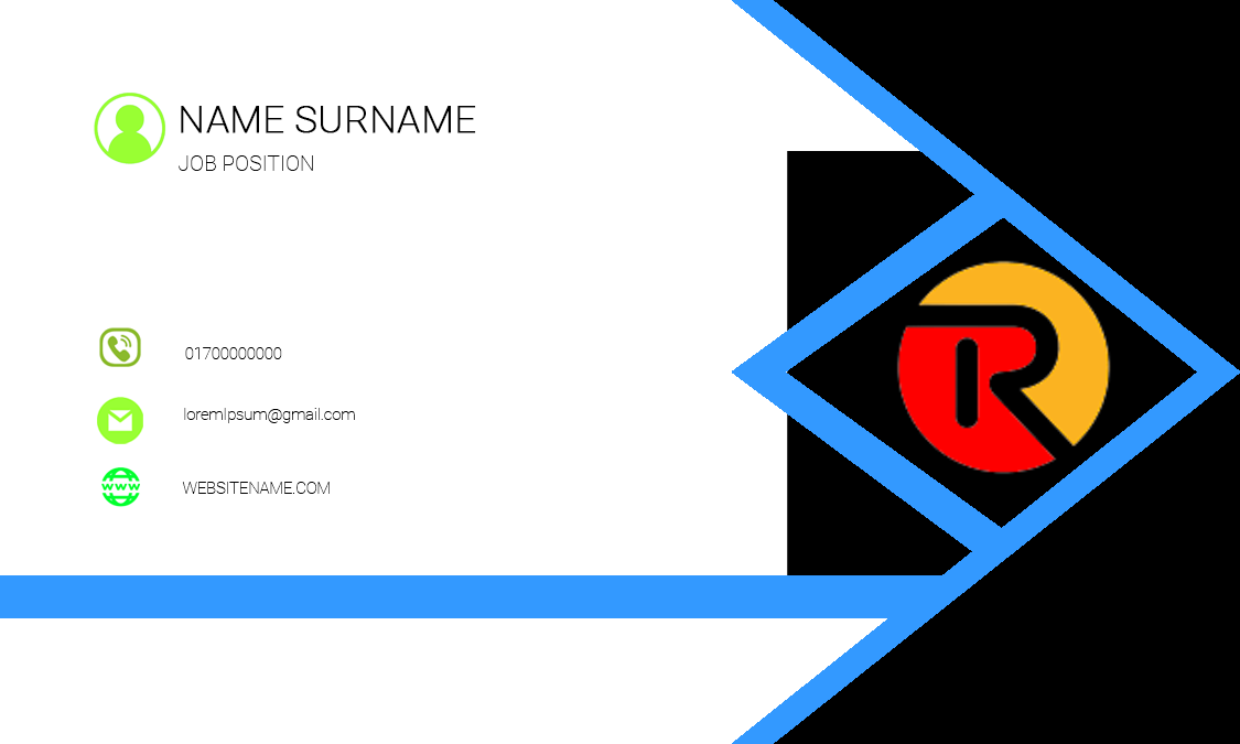 I will make to modern business card