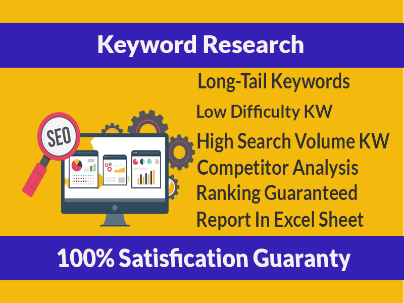 SEO keyword research & competitor analysis For Google Ranking