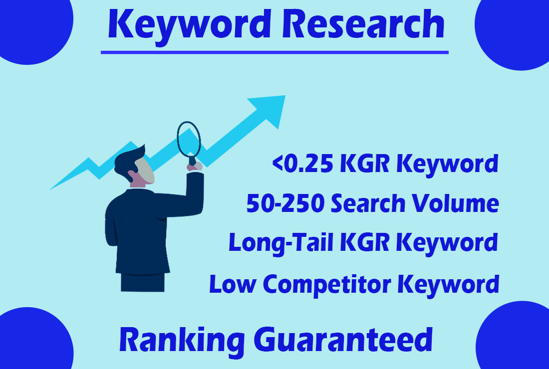 I will do kgr keyword research for rank your website fastly
