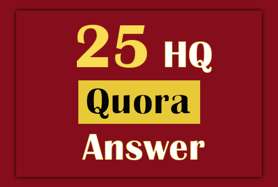 Promote Your Website with 25 HQ Quora Answer and Backlink