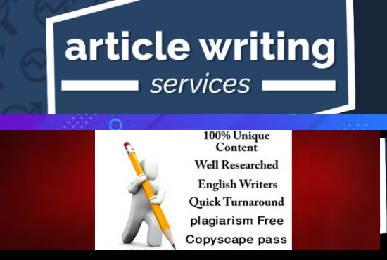 I will provide 1000 word unique ARTICLE writing for your website or Blog