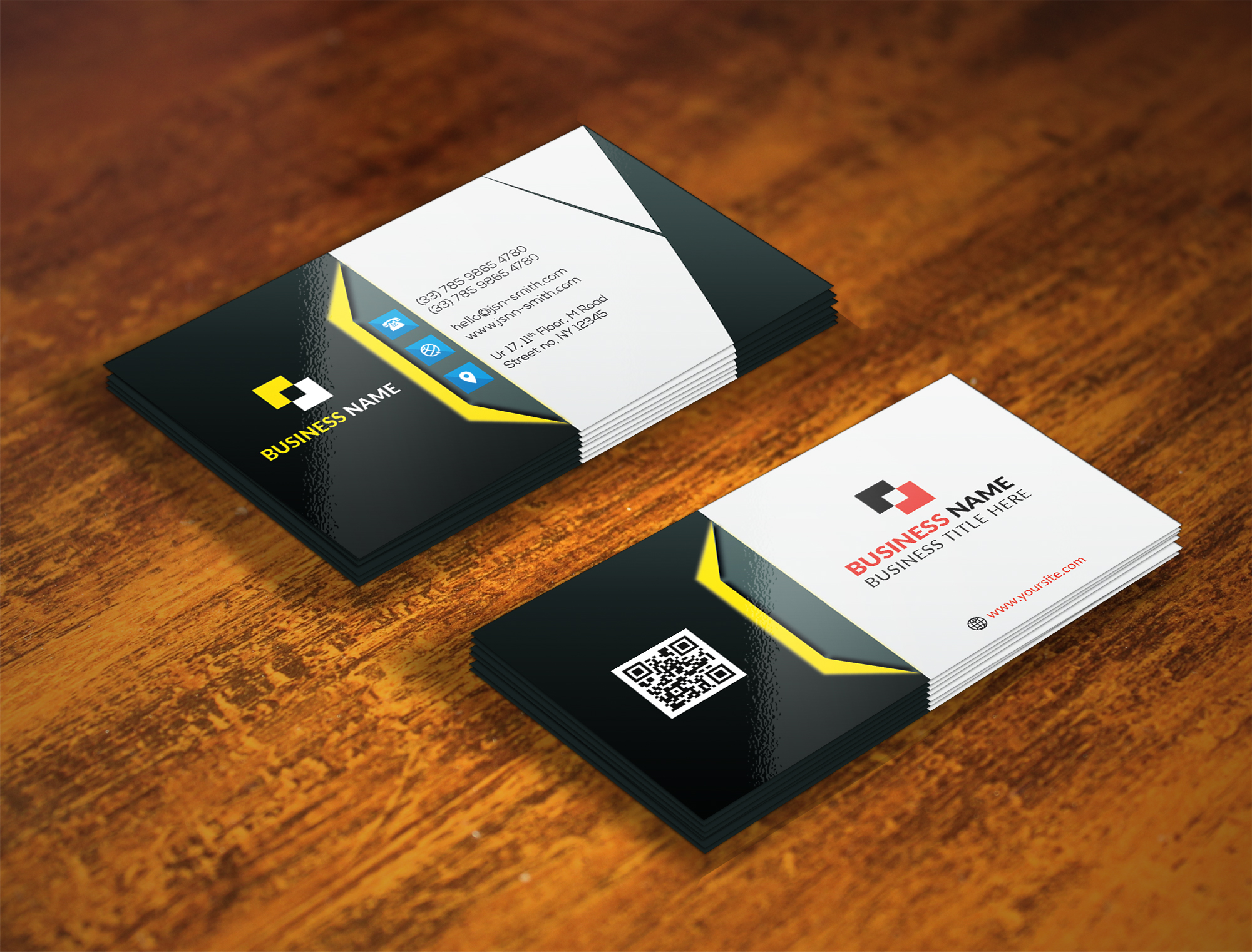 I will design luxury double sided business card print ready files
