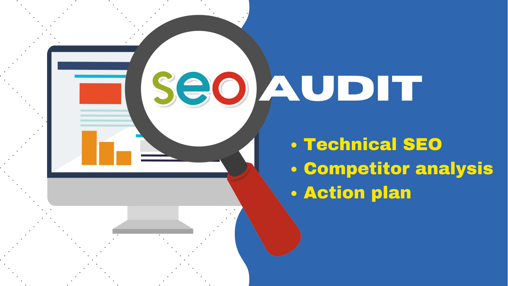 I will do a pro technical seo audit with competitor analysis and action plan