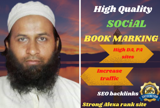 I will make 50 quality bookmarks for your website