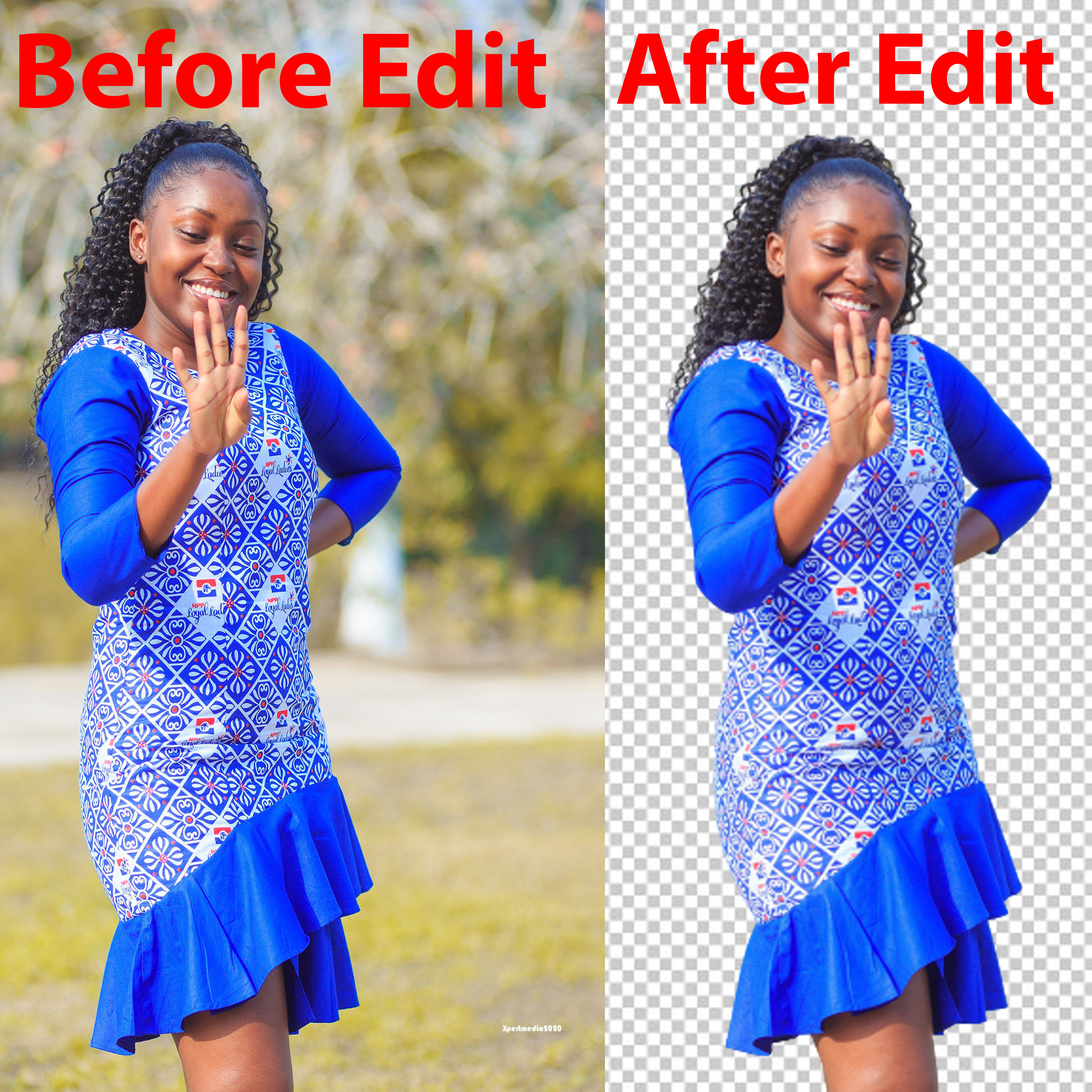 I will urgent professionally background remove.