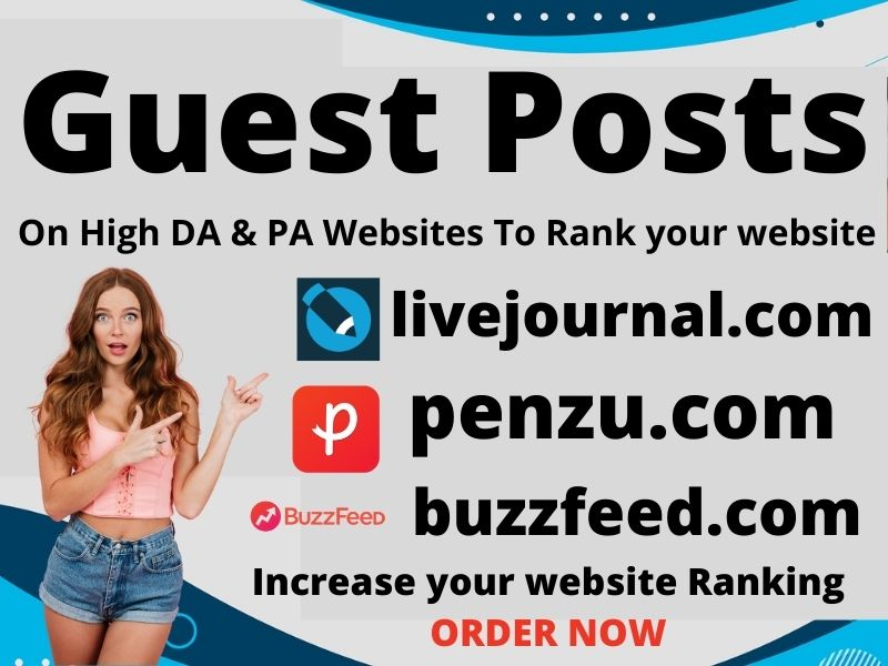 Write & Publish 3 niche related High-Quality guest post 80+ blogs For increase your website ranking