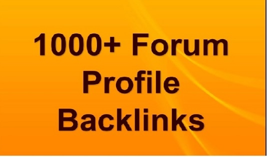 Get 1000+ forum profiles Backlinks for your website