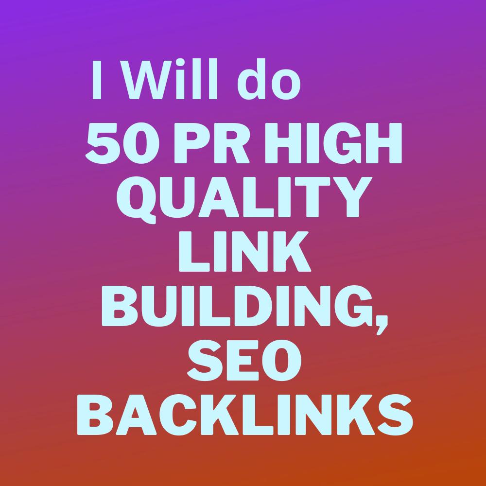 I will do 50 high authority PR link building, SEO backlinks