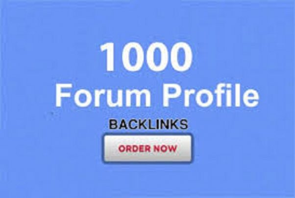 Provide 1000 forum profiles backlinks for your website
