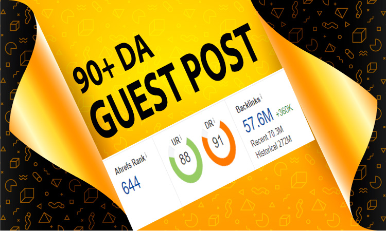 I will provide 90+ Da SEO Guest Post