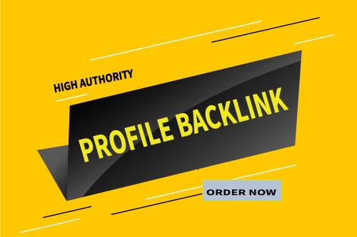 I Will Create Manually100 High DA and PA profile Backlinks.