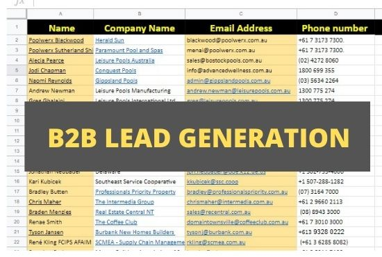 I will do b2b lead generation,  valid email adress by using linkedin.