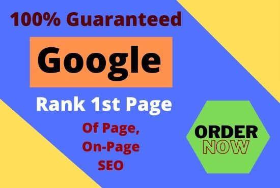 I will rank your website guarantee first page of google