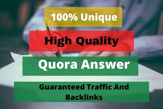 I will provide 30 HQ Quora Answer with Backlink