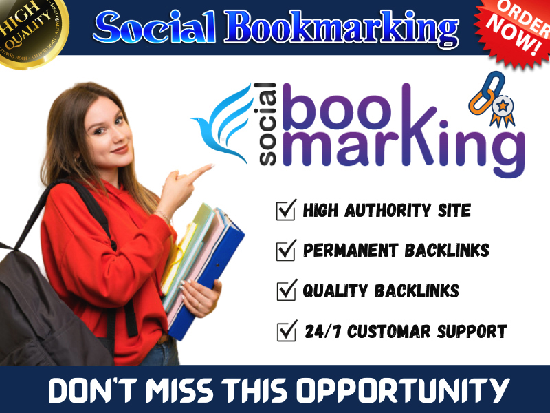 I will Create Top 50 Social Bookmarking Backlinks for Ranking Your Site