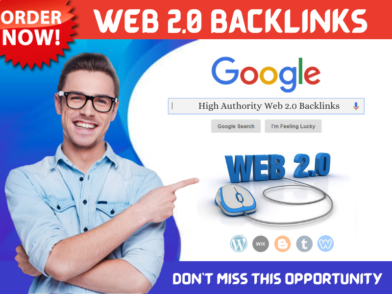 I Will Build Manually 20 High Authority Web 2.0 Backlinks for Google Ranking on Your Site
