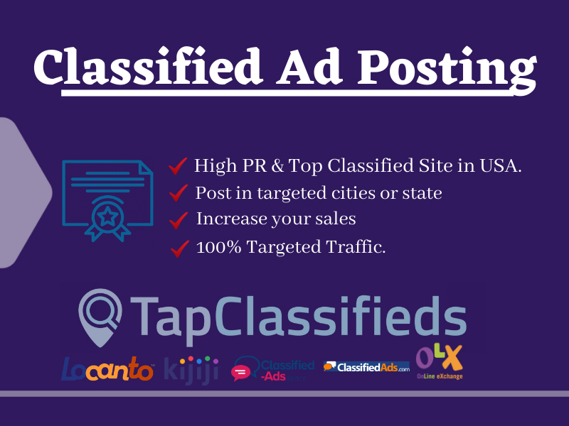 I will post 40 USA top classified ads to grow your business