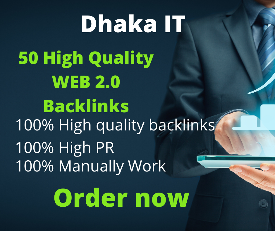 I will do 50 web2.0 backlink in high rank website