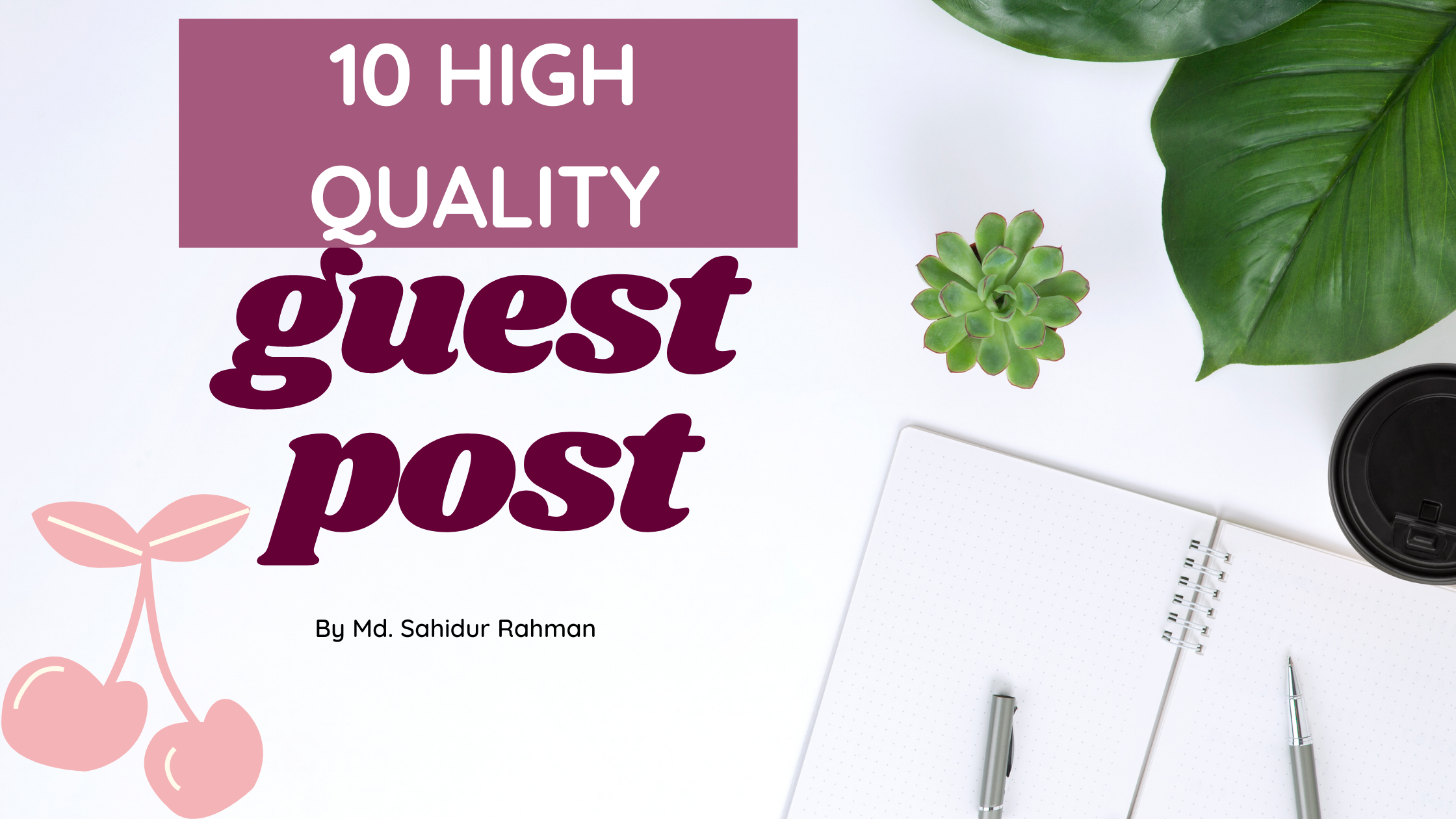 1 will write 10 guest post with high DA
