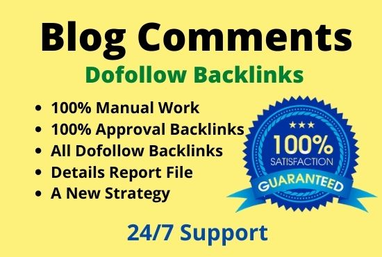 I will do Blog Comments with Dofollow links