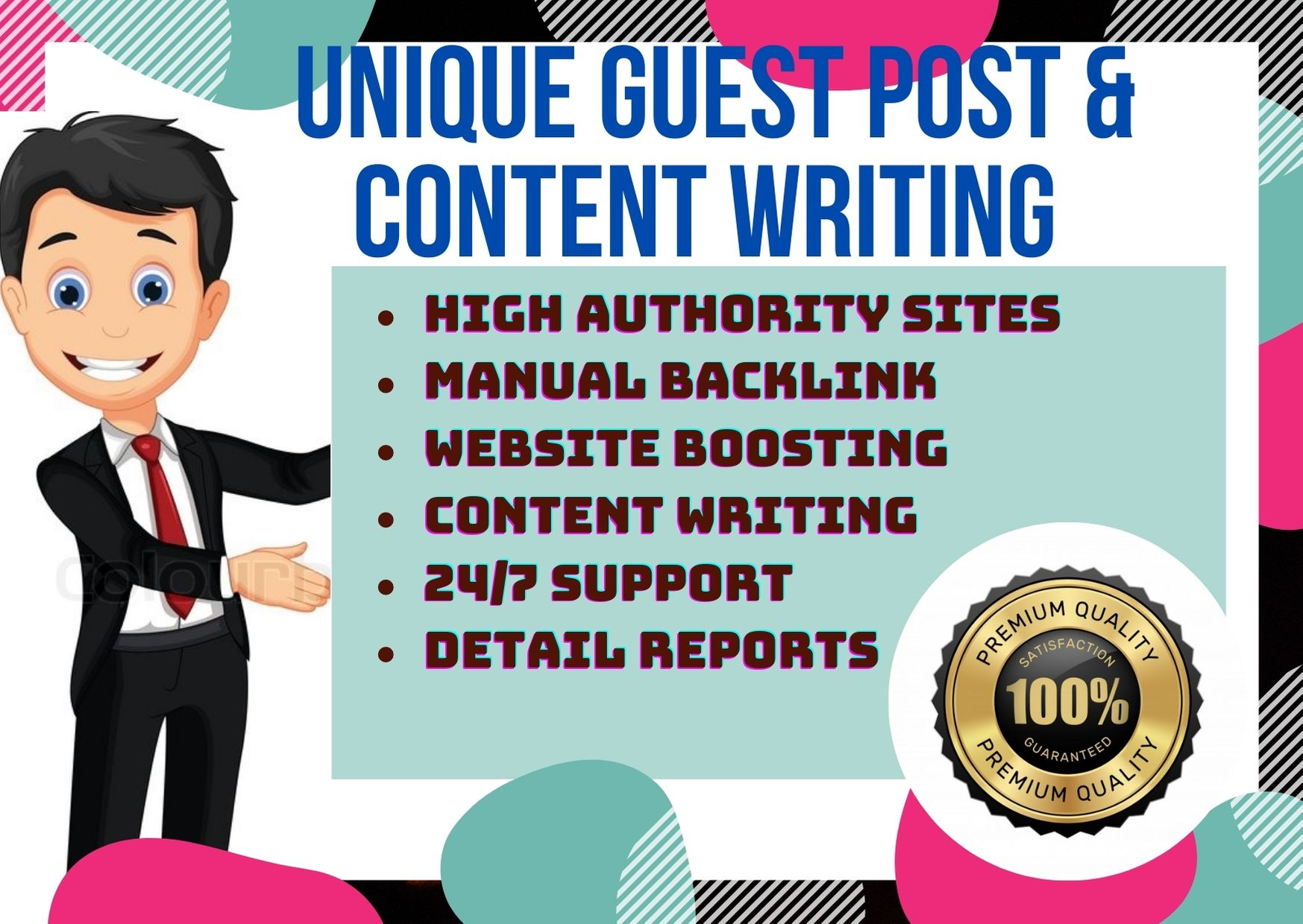 High DA Guest post service with SEO optimized content writing in Medium