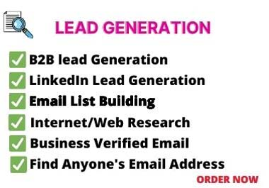 I will do b2b valid lead generation and web research