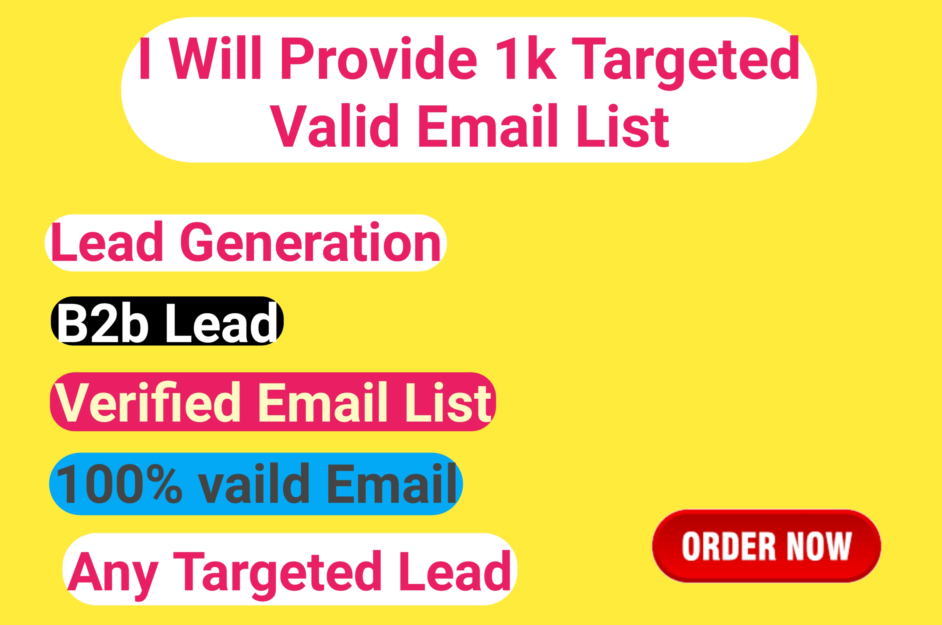 I will provide 1k targeted USA valid Email list