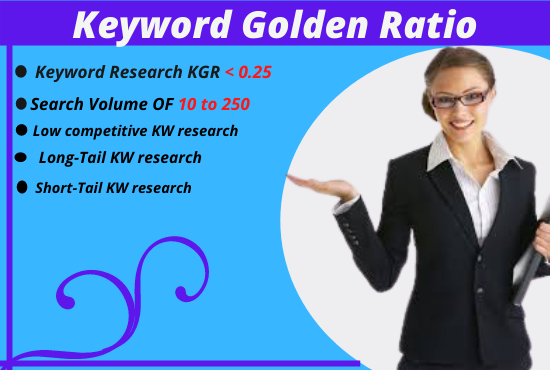 I will Find in-depth KGR Keyword research for your niche
