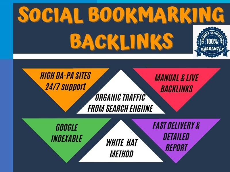 I will Do 50 Best Quality Social Bookmarking Backlinks on High Authority Site for Boost SEO Ranking