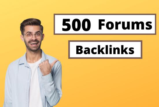 500 Forums Profile High Quality Backlinks