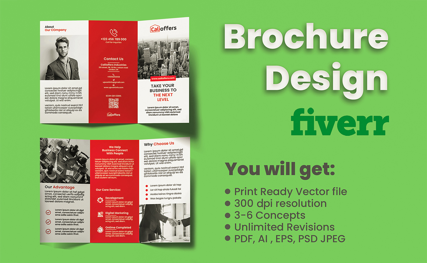 I will make eye-catching brochure for you