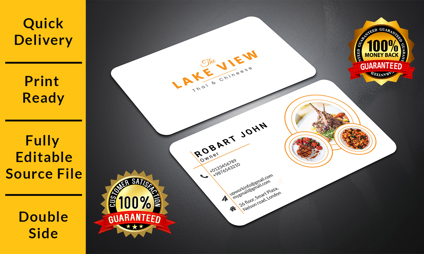 I will design your 2 sided professional business card