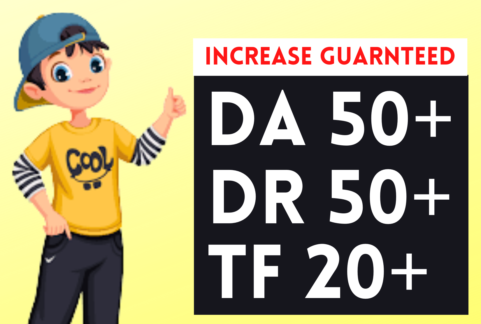 I will icrease domain rating ahrefs dr 50 moz da 50+