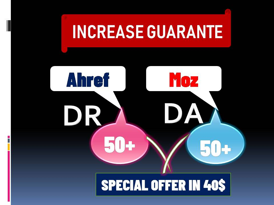 I will increase domain authority moz DA & DR 50 plus