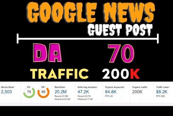 I will guest post on my da 70 site