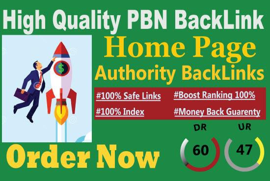 Do 50 DR 60 homepage seo pbn backlinks manually permanent