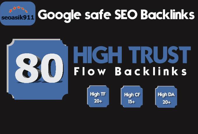 Do 80 tf 20 plus manual high trust flow backlinks