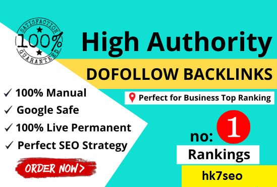 I will create 120 manual high da permanent DOFOLLOW BACKLINKS off page SEO