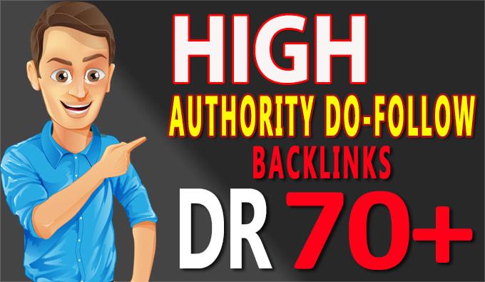 I will do best seo high DR 70+ backlinks